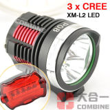 Review 6000Lm 3X Cree Xm L2 Led Front Bicycle Head Lamp Bike Light Headlamp Headlight China