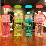Best Offer 600Ml Sports Spray Water Bottle Portable Insulated Leak Proof Plastic Drink Bottle With Spray Mist Pink Intl