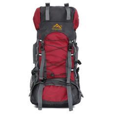 60L Camping Travel Waterproof Sport Outdoor Backpack Red Intl Deal