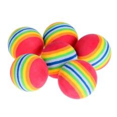 6pcs Indoor Practice Eva Sponge Foam Balls Swing Training Aids Golfing - Intl (multicolor) By Rainbowonline.