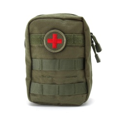 900D Nylon Tactical Molle Waist Bag Medical First Aid Utility ETM Pouch Camping green - intl