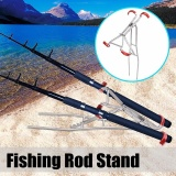 Cheaper Adjustable Fishing Rod Double Pole Bracket Foldable Tool Standing Holder Intl
