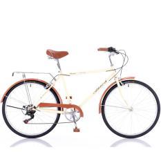 Sale Aleoca 26 Retro City Bike Brown Ab2607 Rto14