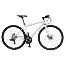 Aleoca 700c 24 Speed Hx.5 Hybrid Bicycle Ab70024-Hx.5 (white/baby Blue) By Aleoca Pro Singapore.