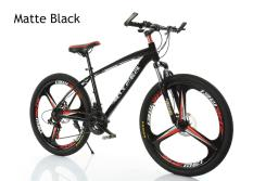 Aluminium 21 Speed 3 Blades Flash Mountain Bikematte Black By Aextech.