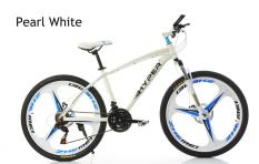 Aluminium 21 Speed 3 Blades Shimano Mountain Bikematte Pearl White By Aextech.