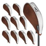 Andux 10 Pcs Golf Club Iron Head Covers Driver Zipper Headcover Mt Yb01 In Stock