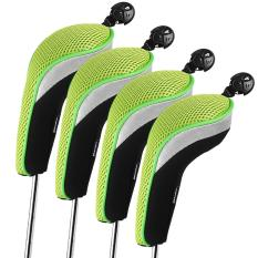 Top Rated Andux 4Pcs Golf Hybrid Club Head Covers With Interchangeable No Tag Mt Hy01