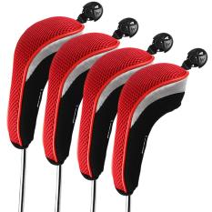 Andux 4Pcs Golf Hybrid Club Head Covers With Interchangeable No Tag Mt Hy01 Price Comparison