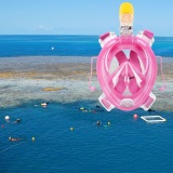 Sale Ar72 41 Full Face Snorkeling Mask For Gopro Camera S M Pink Oem Branded