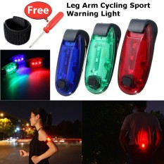 Arm Band Belt Led Light Night Running Cycling Sport Warning Bracelet Waterproof Blue - Intl By Audew