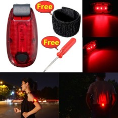 Arm Band Belt Led Light Night Running Cycling Sport Warning Bracelet Waterproof Red - Intl By Audew