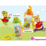 Store Back To Sch**l Water Bottle 400Ml With Strap Orange Bear Tupperware Brands On Singapore
