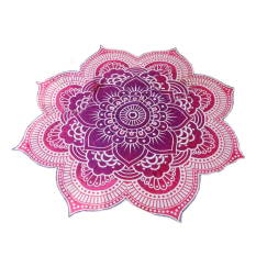 Best Buy Beach Towel Mandala Tapestry Lotus Flower Shape Outdoor Roundie Hippie Gypsy Boho Throw Towel Tablecloth Hanging Yoga Mat Purple Intl