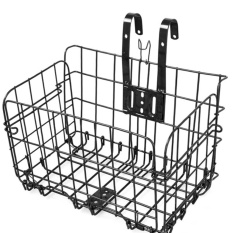 Bicycle Bike Stainless Steel Folding Basket Carrier With Hook Black - Intl By Jelly Store.