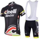 Bike Men Cycling Jersey Shirt Bib Shorts Set Black Sp62 Export Free Shipping
