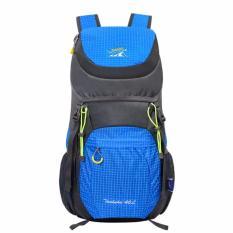 For Sale Blue 40 Liter Foldable Backpack Hiking Daypacks Outdoor Drawstring Travel Bags Laptop Computer Back Pack Camera Bagpack Portable Waterproof Men Sports Light Ultra Skin Wear Resistant Cycling Trekking Intl