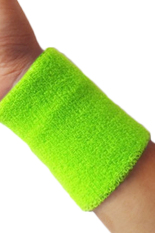 Bluelans® Sports Wrist Sweatband Tennis Squash Badminton Gym Basketball Wristband Fluorescent Green By Bluelans.