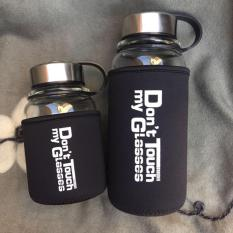 Wholesale Borosilicate Glass Water Bottle With Protective Bag 1000Ml