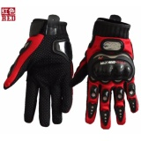 Great Deal Carbon Fiber Motorcycle Racing Hand Full Finger Protection Pro Biker Gloves(Red ) Intl