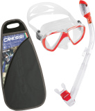 Review Cressi Ranger Dry Diving Mask And Dry Snorkel Snorkeling Set Red Cressi On China