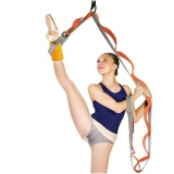 Discounted Door Durable Cotton Prevent Slippery Flexible Stretch Band Belt For Ballet Dance Yoga Split Training Color Orange