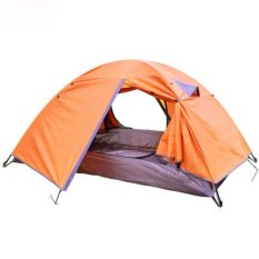 Best Deal Double Layer Camping Tent Canopy Outdoor Shelter 2 Person Hiking Waterproof Tent