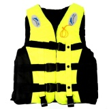 Price Drifting Swimming Fishing Life Jackets With Whistle For Adults And Children Size L Yellow Intl Diylooks New