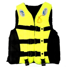 How To Get Drifting Swimming Fishing Life Jackets With Whistle For Adults And Children Size L Yellow Intl