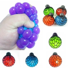Eachgo Anti Stress Mesh Squishy Ball Toy Grape Stress Relief Squeezing Ball (2) - Intl By Twinkle2017.