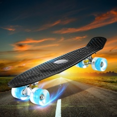 Sale Enkeeo Kids Youths 22 Penny Style Skateboard Long Board Plastic Stakeboard Gift Black Intl China Cheap