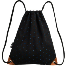 cacb394319 EOZY Fashion Lady Girl s Canvas Sports Drawstring Bag Polka Dot Printed  Hiking Cycling Backpack Leisure Travel