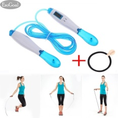 EsoGoal Jump Rope Adjustable Skipping Speed Ropes with Calorie and Jump Counter Fitness & Exercise Sets