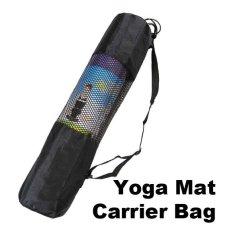 328250161c Fine Nylon Yoga Mat Bag Carrier Mesh Center (Black) - intl