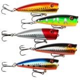 Discount Fishing Lures Topwater Floating Popper Poper Lure Hooks Bait Bass Crankbait Intl Seeksee