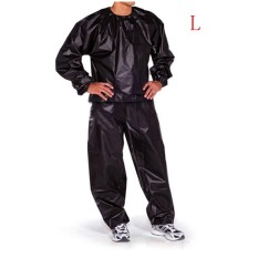 Fitness Loss Weight Sweat Suit Sauna Suit Exercise Gym Size L Black - Intl By Autoleader.