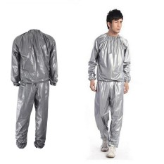 Fitness Loss Weight Sweat Suit Sauna Suit Exercise Gym Size Xl Grey - Intl By Autoleader.