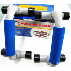 Price Comparisons For Fitness Push Up Bars Gym Strength Training Set Of 2 Bars Blue Intl