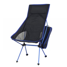 Folding Chair Fishing Camping Hiking Gardening Portable Seat Stool Blue - Intl By Crystalawaking.