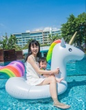 How To Get Giant Inflatable Swim Floats Unicorn Floats Summer Pool Water Raft With Handle Intl