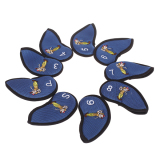 Best Deal Golf Club Iron Putter Head Cover Set Of 9 Blue