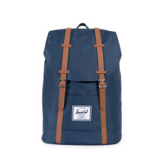 Herschel Retreat Backpack (Navy Tan Synthetic Leather)