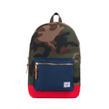 Compare Prices For Herschel Settlement Backpack Woodland Camo Navy Red