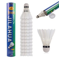 High Quality 12pcs/set Badminton Balls White Goose Feather Shuttlecocks - Intl By Casual Fashion.