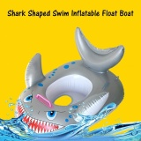 Review Hot Sale Shark Shaped Kids Swimming Inflatable Float Boat Baby Toddler Children Swim Circle Seat Fish Ring Safety Pool Accessories Intl On China