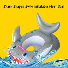 Buying Hot Sale Shark Shaped Kids Swimming Inflatable Float Boat Baby Toddler Children Swim Circle Seat Fish Ring Safety Pool Accessories Intl