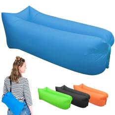 Free Portable Bag Double Layer Square Shape Lounge Air Bag Beach Flatfish Sleeping Bed Air Sofa Coach For Camping Hiking 10S Outdoor Sleeping Bags Intl Reviews