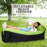 Review Inflatable Lounger Portable Air Beds Sleeping Sofa Couch For Travelling Camping Beach Backyard Intl On China