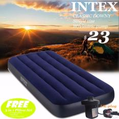 Intex Airbed Classic In 5sizes+electric Pump(uk Plug)*3 In 1 Pillow Set Free*inflatable Mattress*air Bed By B.b.store.