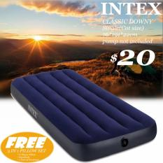 Intex Airbed Single(cot Size)*pump*pillow To Choose*inflatable Mattress*air Bed By B.b.store.